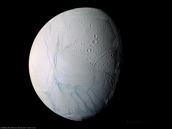 Enceladus, one of the 'top 10 livable alien worlds' by China.org.cn.