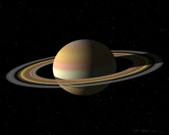 Saturn, one of the 'top 10 livable alien worlds' by China.org.cn.
