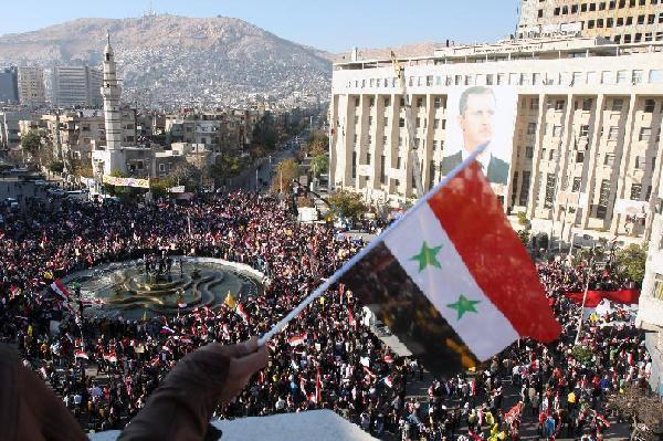 SYRIA-DAMASCUS-RALLY