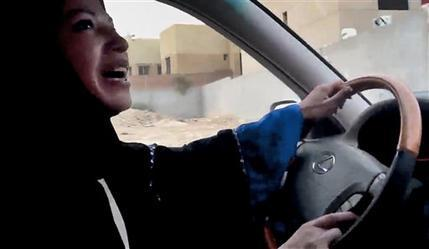 In this Friday, June 17, 2011 file image made from video released by Change.org, a Saudi Arabian woman drives a car as part of a campaign to defy Saudi Arabia's ban on women driving, in Riyadh, Saudi Arabia. [Agencies]