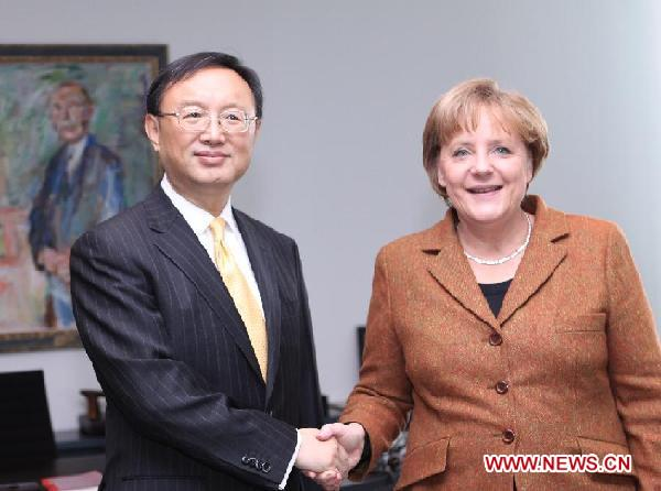 GERMANY-CHINA-YANG JIECHI-MERKERL-MEETING