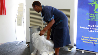 Cleaners at UN Climate Change Conference in Durban