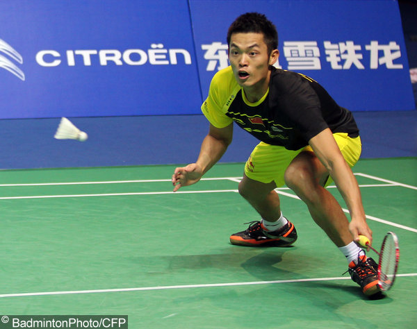 Lin Dan plays in China Open's final on December 27, 2011 in Shanghai.