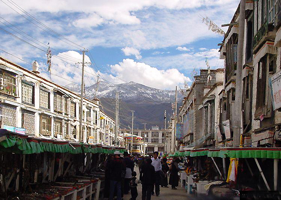 Barkhor Street in Lhasa, one of the 'top 10 ancient streets in China' by China.org.cn.