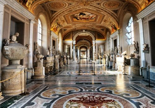 Vatican Museums, Rome, one of the 'Top 10 most-visited museums in the world'.