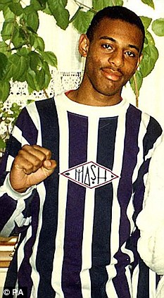 Victim: Stephen Lawrence who was stabbed to death in April 1993
