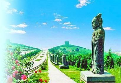 The Qianling Mausoleum in Shaanxi Province