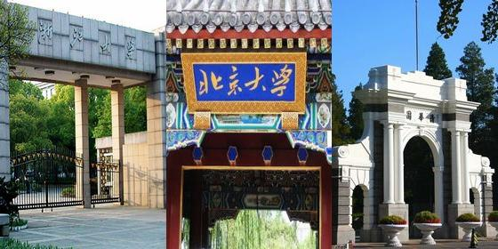 Top 30 Chinese universities 2012