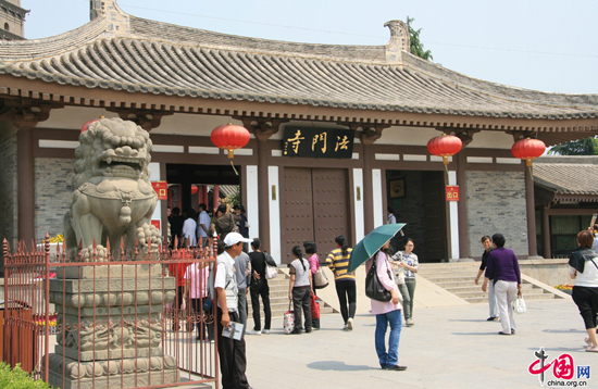 Famen Temple,one of the 'Top 10 temples for Spring Festival prayers' by China.org.cn.