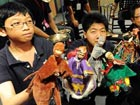 Hand puppets survive in Taiwan