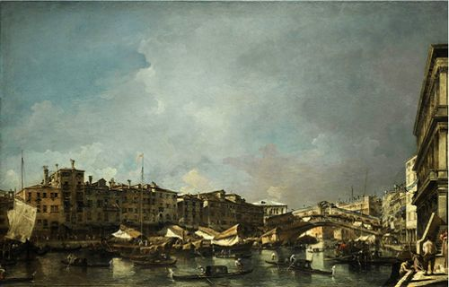 Francesco Guardi's Venice, a View of the Rialto Bridge, Looking North, one of the 'Top 10 highest priced artworks sold in 2011' by China.org.cn.
