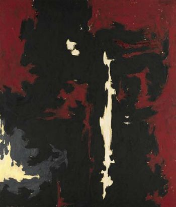 Clyfford E. Still's 1949 A No.1, one of the 'Top 10 highest priced artworks sold in 2011' by China.org.cn.