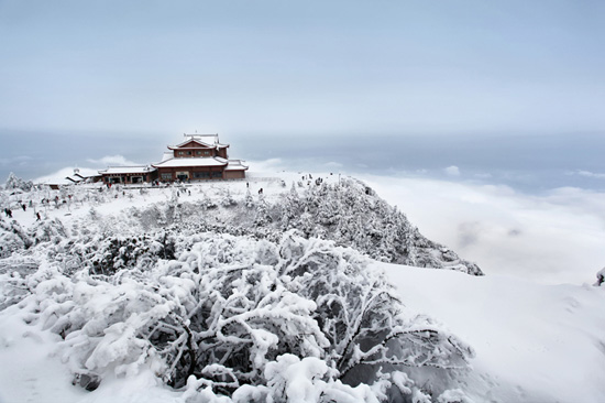 Emei Mountain, one of the 'Top 8 February destinations in China' by China.org.cn.