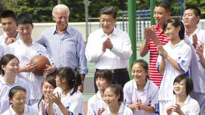 Chinese VP meets Biden