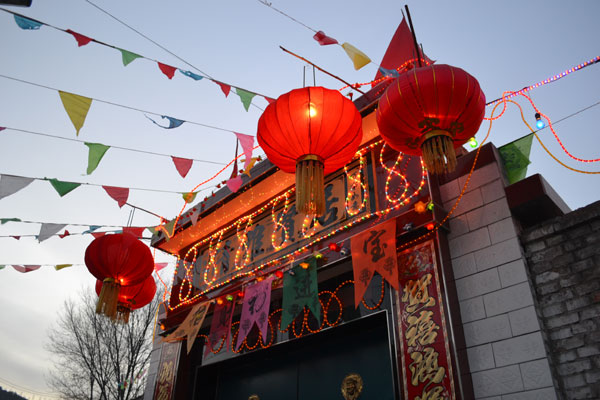 A Local house decorated for the Lantern Festival on Feb. 7, 2012 in Zuoquan County, Shanxi Province. [China.org.cn]