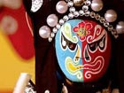Colorful Peking opera faces, colorful life