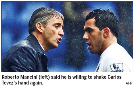 Mancini holds out olive branch