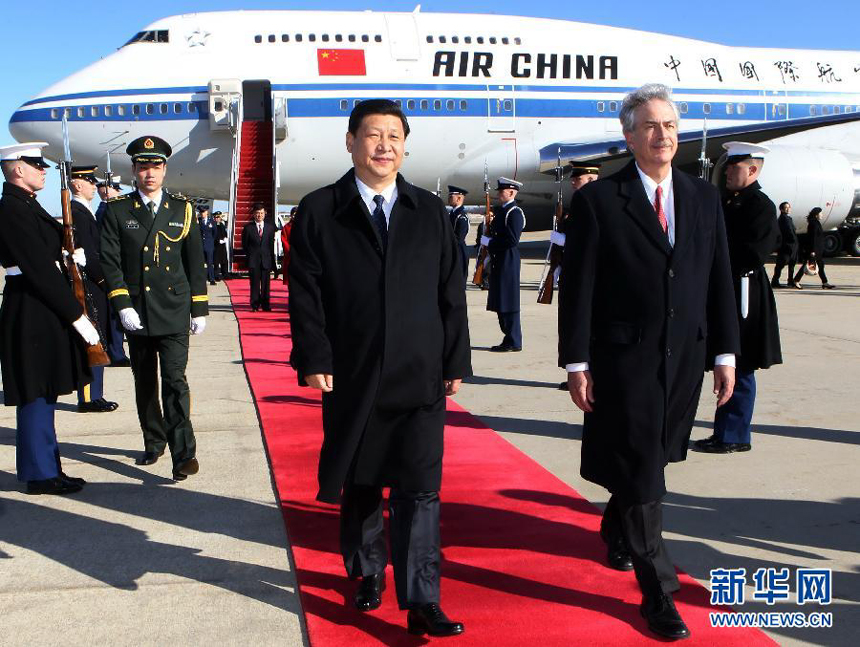 Chinese Vice President Xi Jinping arrived in Washington Monday afternoon, kicking off his official visit to the United States. Xi made the visit as guest of U.S. Vice President Joe Biden.
