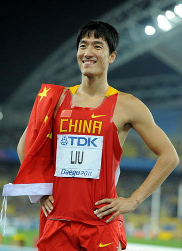 Liu Xiang,one of the 'Top 10 highest-earning Chinese athletes of 2011' by China.org.cn.
