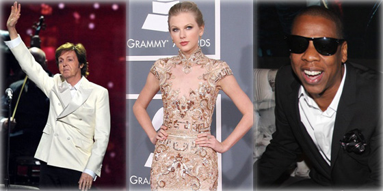 Top 8 highest-earning Grammy winners of 2012