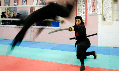 Women ninjas in Karaj, northwest of Tehran. [Agencies]