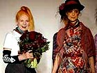 Westwood delivering environment message on London catwalk