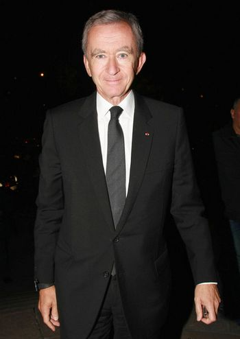 Bernard Arnault, one of the 'Top 10 richest people on Earth in 2012' by China.org.cn.