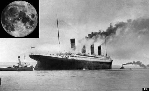 Scientists have found an unexpected culprit for the Titanic's sinking: the moon.