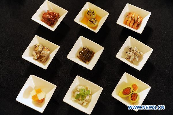 File photo taken on Sept 26, 2010 shows some cold dishes of Sichuan Cuisine in Chengdu, southwest China's Sichuan province. [Photo/Xinhua]