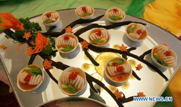 File photo taken on Sept 26, 2010 shows a kind of Sichuan Cuisine dish in Chengdu, southwest China's Sichuan province. [Photo/Xinhua]