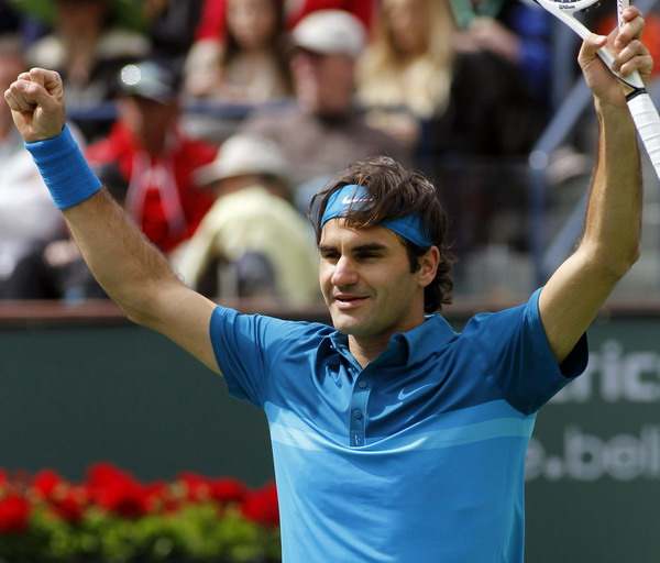 Federer beats Isner to win Indian Wells