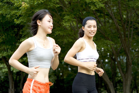 The most common aerobic exercise includes walking, jogging and race walking.