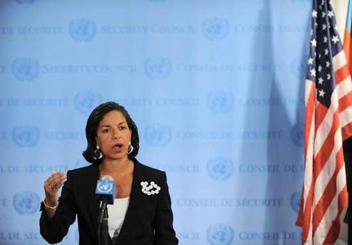 The UN Security Council will have to take 'very urgent and serious' action if Syria fails to meet an April 10 deadline to halt its military operations in protest cities, US ambassador Susan Rice, pictured on April 2, said Tuesday.
