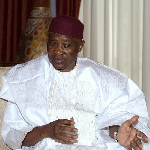 A file picture taken on June 25, 2010 shows Malian President Amadou Toumani Toure at the Koulouba palace in Bamako. [Xinhua]
