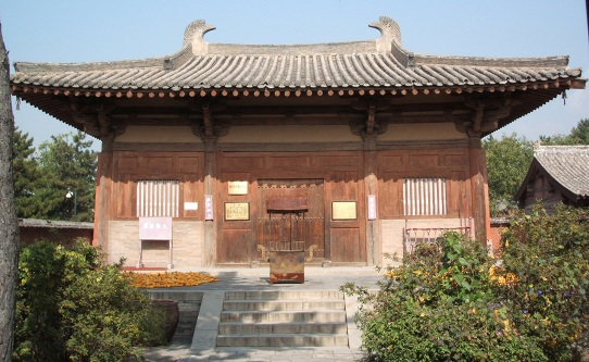 Main hall of Nanchan Temple is situated in Lijia Village, 22 km southwest of Wutai County of Shanxi Province.