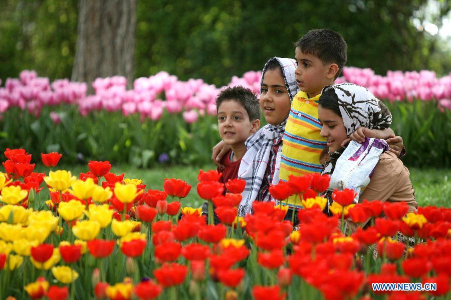 Spring Flowers Blossom In Irans Tehran China