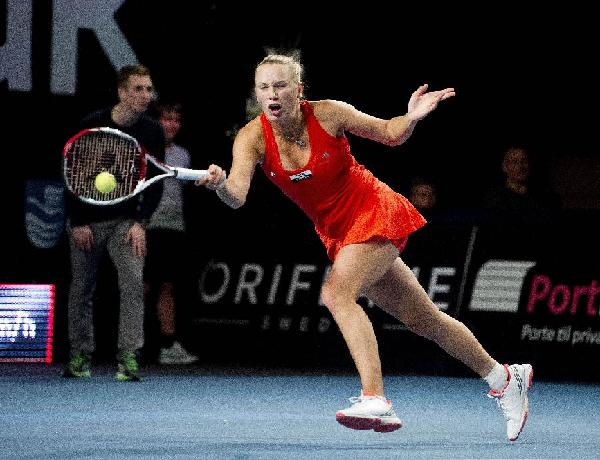 Wozniacki reaches Copenhagen WTA semifinals