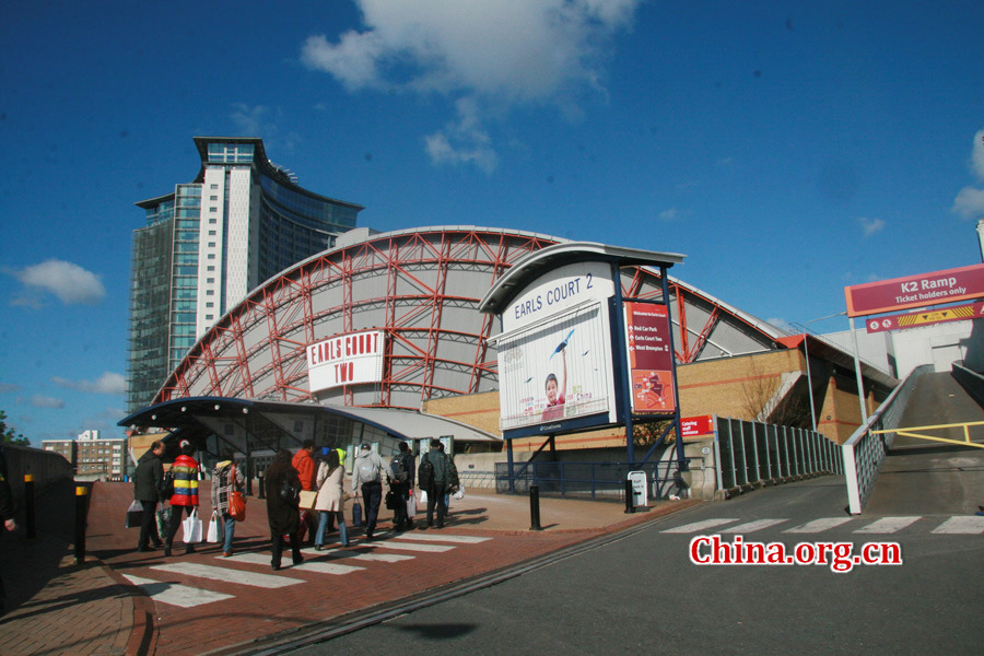 In the early morning of April 15, CIPG staff attending the 2012 London Book Fair arrive at the CIPG's booth at Earls Court.