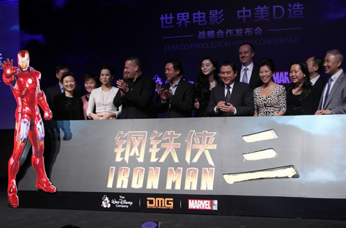 In a joint agreement, DMG will invest in Iron Man 3 and manage the co-production process on the Chinese side.