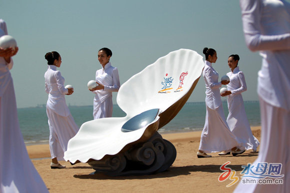 Asian Beach Games flame lit in Shandong