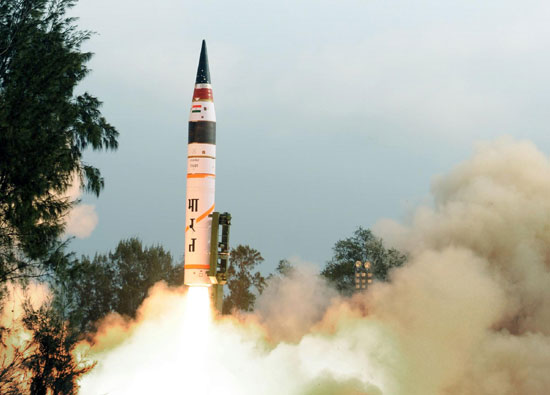 India successfully testfires Agni-V missile