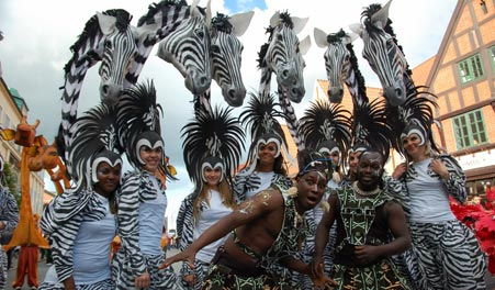 Aalborg Carnival, Demark, one of the 'top 10 carnivals in the world' by China.org.cn.