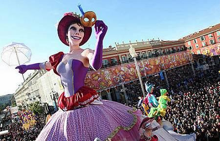 Nice Carnival, France, one of the 'top 10 carnivals in the world' by China.org.cn.