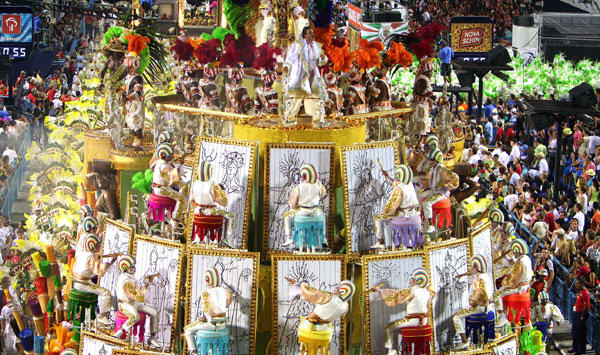 Carnival of Rio de Janeiro, Brazil, one of the 'top 10 carnivals in the world' by China.org.cn.