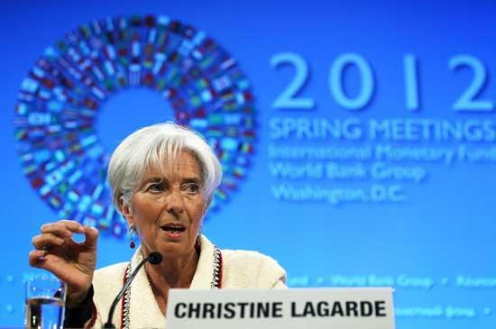 International Monetary Fund Managing Director Christine Lagarde speaks during a briefing. Lagarde said Thursday that the global lender needs solid support from Cairo's authorities for a truly viable program if it is to lend Egypt money.