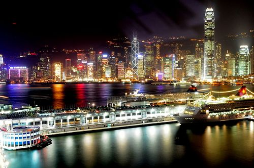 Night view of Hong Kong [File photo]