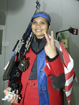 8 months pregnant shooter will compete in London