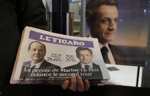 Hollande, Sarkozy to face off in run-off election