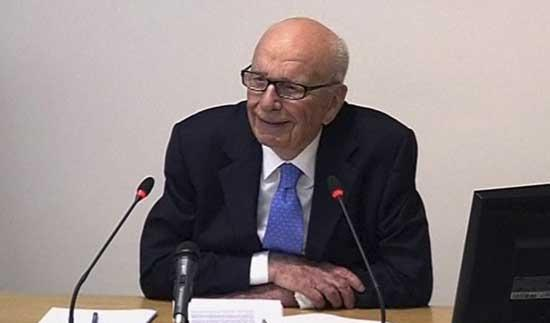 In this image from video, News Corp. chairman Rupert Murdoch appears at Lord Justice Brian Leveson's inquiry in London, Wednesday April 25, 2012 to answer questions under oath about how much he knew about phone hacking at the News of the World tabloid. 