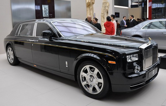 Rolls-Royce Phantom Series II,one of the 'Top 10 most expensive cars at Beijing Auto Show' by China.org.cn.
